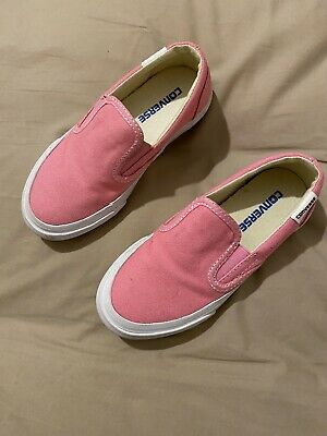 GIRLS PINK CONVERSE INFANT SIZE UK 10 Exc Condition