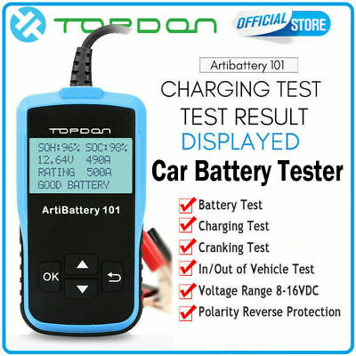 TOPDON AB101 12V Battery Tester Auto Digital Analyzer OBD2 Vehicle Car Test Tool