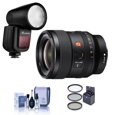 Sony FE 24mm F/1.4 GM (G Master) E Mount Lens With Zoom Li-on X R2 TTL Flash Kit
