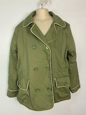 Girl Gap Khaki Green Casual Light Weight Summer Jacket Coat Kid Age 13 Years Xl