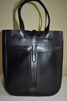 Paul Smith Womens Hand Crafted Black Calf Leather Tote Bag  Brand New