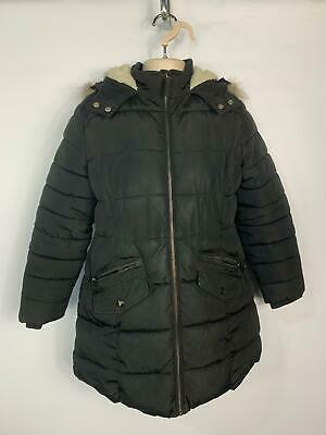Girls Marks&Spencer Black School Padded Winter Jacket Rain Coat Kid Age 9 Years