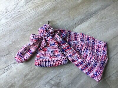 Bnwt M&S  Girls 3 Part Set Hat & Scarf   Age 10/14 Years  Rrp £18