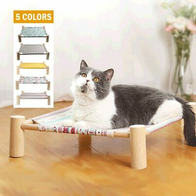 Pet Elevated Bed Small Dog Cat Indoor Outdoor Sleeping Cot Mat Lounger Hammock
