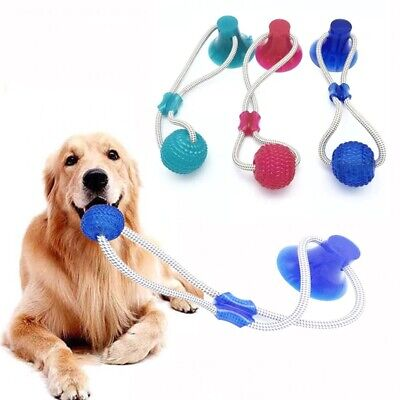 Pet Bite Dog Toys Multifunction Pet Molar Rubber Chew Ball Cleaning Teeth