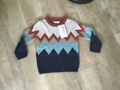 Bnwt Boys Marks & Spencer Winter Jumper Age 18/24 Months