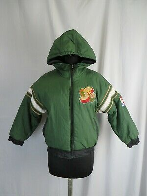 Seattle Supersonics NBA Youth Lightweight Reversible Hooded Jacket Green