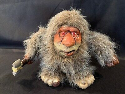 Vintage Da Grunt Caveman Doll Unity Creation 1989 Troll Parts or Doll Only