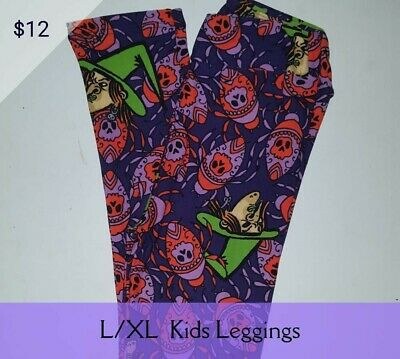 L/XL LuLaRoe Kids Leggings Witches and Beetles