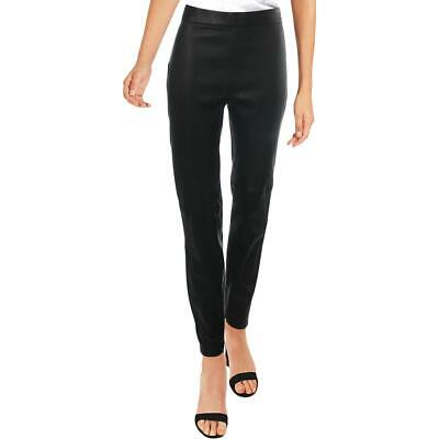 Elie Tahari Womens Roxanna Black Leather Ankle Legging Skinny Pants M BHFO 5724
