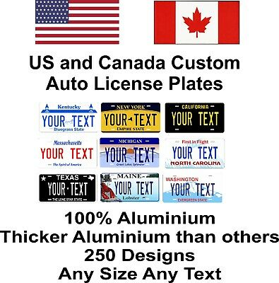 Any State Any Text 250 Designs License Plate Personalized Custom Auto Car