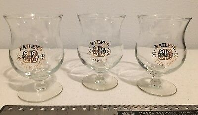 """3 Baileys On The Rocks Glasses Cups 4.25"""" Tall"""
