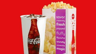 AMC Theaters (1x) Large Drink and (1x) Popcorn Voucher Coke || < 1 Hr. Delivery