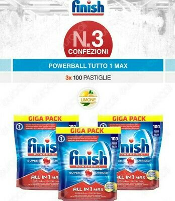KIT LAVASTOVIGLIEFINISH POWERBALL LIMONE 3x100 PASTIGLIE
