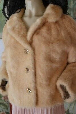 Vintage women's / ladies fur jacket cinnamon cream colour GSC1