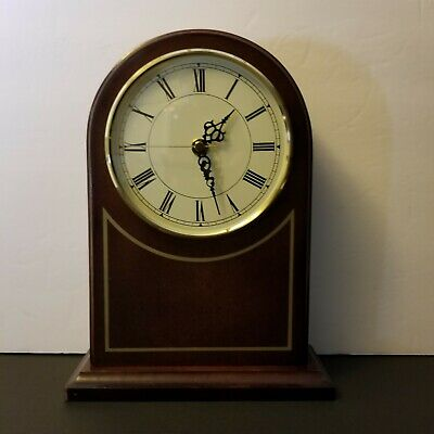 "BOMBAY COMPANY~ WOODEN MANTLE CLOCK 10+"". Excellent Working Condition dark oak"