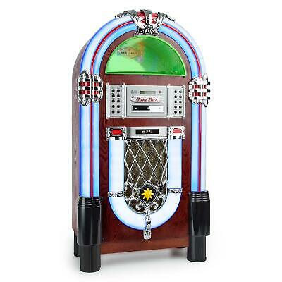 Jukebox Bluetooth Cd Mp3 Player Usb Sd Aux Radio Tuner Platten Spieler Led Licht