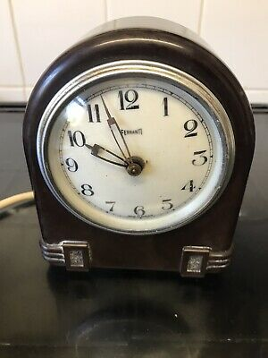Art Deco ferranti Bakelite mantle clock