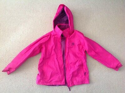 Karrimor pink purple waterproof hooded light weight coat age 11 - 12