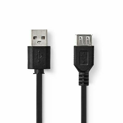 1m USB EXTENSION Cable Lead A Male To Female Extention High Speed 2.0 Nedis