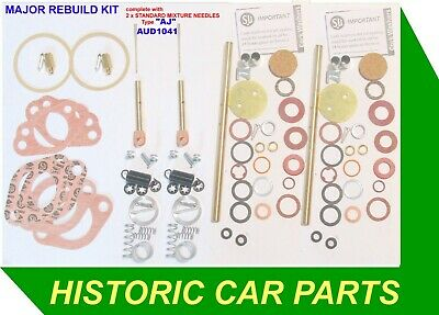 """SERVICE Kit for 1 H1 1⅛"""" SU Carb Front//Rear on Austin Healey SPRITE Mk1 1958-61"""