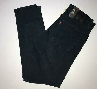 LEVIS 510 Jeans Skinny  Hip to Ankle Tech zip pockets Ross Mose Dark Wash 36x32
