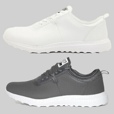 Mens Henleys Tech HX350 Bounce Trainers Charcoal or White (FCF3) RRP £39.99