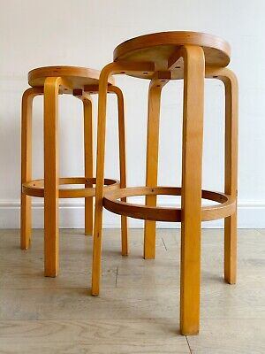 Retro vintage kitchen/counter/bar stools designed by Alvar Aalto