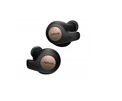 Jabra Elite Active 65t Wireless Earbuds with Charging Case – Copper Black