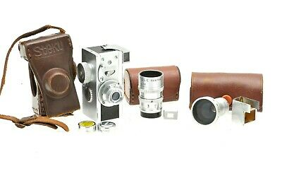 Steky Model III 16 mm miniature camera Tele 40mm f5.6, 25mm f3.5 lenses. Extras