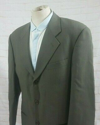 Giorgio Armani Men's Sport Coat Jacket Green Wool Check Mani Vtg Italy Size 38R