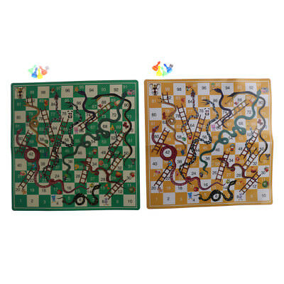 Kids Folding Snake Chess Toys Portable Snakes ladders Puzzle Game Preschool  S5Y