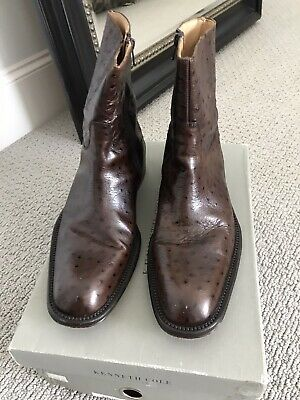 Lightly Worn Men's Kenneth Cole Collection Italian OS Boots $495  EURO 42 1/2