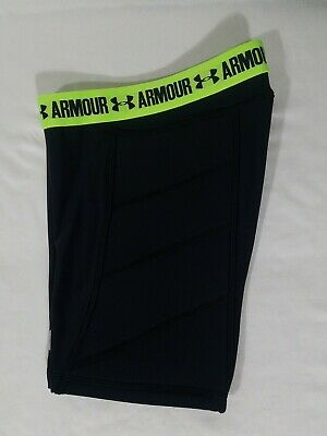 Under Armour Softball Sliding Shorts Size Medium Youth Girls Black 1285985-003