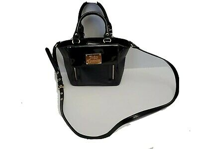 Juicy Couture Black Pink Inside Double Handle Shoulder Cross Body Purse New WOT