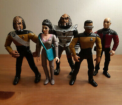 Vintage STAR TREK TNG NEXT GENERATION toy figure lot with Picard by Playmates