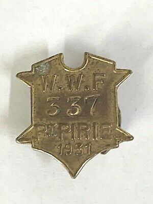 1931 Port Pirie Waterside Workers Federation Union Badge