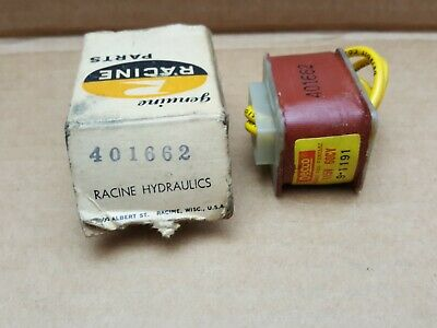 Racine Solenoid Coil 401662 - New Old Stock - Decco 9-1191M