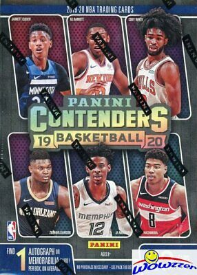 2019/20 Panini CONTENDERS Basketball EXCLUSIVE Sealed Blaster Box-AUTO/MEM