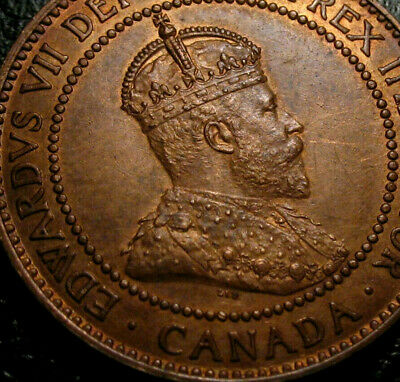 Old Canadian Coins 1909 Canada  HIgrade Large Cent