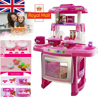 Portable Electronic Children Kids Kitchen Cooking Girl Boy Toy Cooker Play Set
