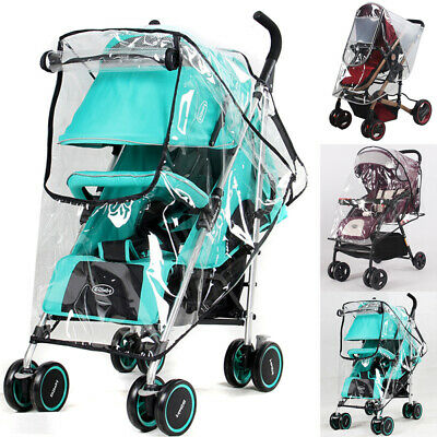Universal Clear Buggy Pushchair Stroller Pram Transparent Rain Cover For Baby