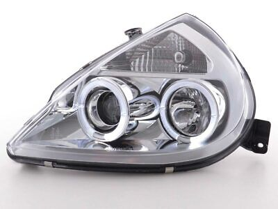 Scheinwerfer Set Angel Eyes für Ford KA RBT Bj. 96-08 chrom
