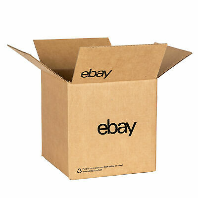 "eBay-Branded Boxes With Black Color Logo 8"" x 8"" x 8"""