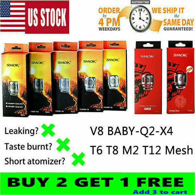 5Pcs TFV8² Baby² Beast² Tank² replacement Coils² V8 Baby Coils² Q2/T8/T6 mesh²