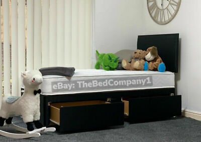DIVAN BED WITH ORTHOPAEDIC MATTRESS & HEADBOARD 3FT 4FT6 Double 5FT King 6FT
