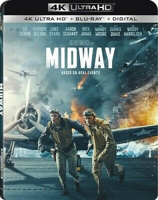 Midway (2019)   ULTRA 4K HD Blu Ray  -  with slipcover  - sealed