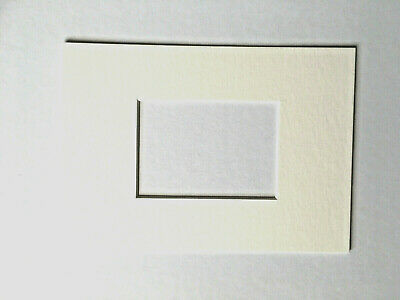 "Bright White Card Mount for ACEO paintings or prints (to fit 7"" x 5"" frame)"