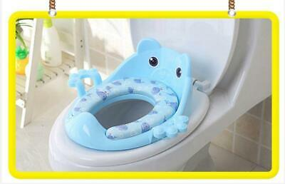 Potty Training Seat Baby Kid Toddler With Handles High Back Secure BLUE