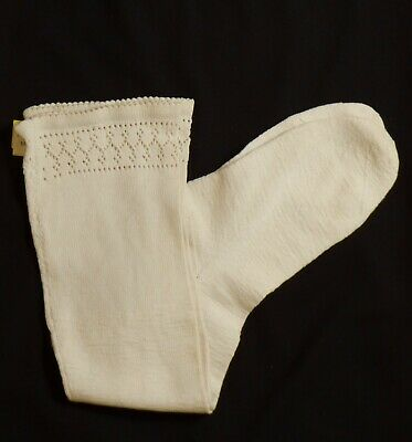 1920s Ivory Knitted Cotton Socks